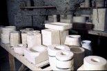 Salle des moules, atelier de Gordes, 1976.