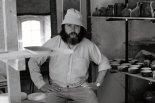 Jean Payen dans son atelier gordien, c. 1976.