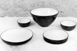 """Grand plat rond, bol, grand saladier, plat japonais, """"coupe boule"""", c. 1966."""