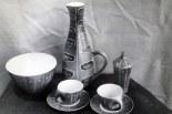 Ensemble décoré, fin des années 50.